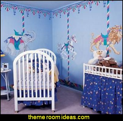 Carousel  animals - Carousel Canopy Wall Stencils  carousel theme bedroom ideas - carousel bedroom set - carousel horse theme girls bedrooms - carousel horse decor -  carousel merry go round wall decals - carousel theme baby bedrooms - girls bedrooms theme - carousel horse nursery theme - carousel themed nursery