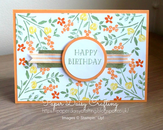 Handmade birthday card with Number of Years from Stampin' Up!