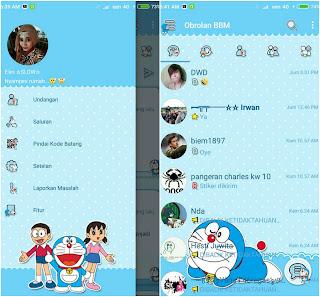 BBM Mod Nijel Doraemon Theme v3.2.0.6 Apk