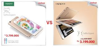 Harga dan Perbedaan OPPO F1s dengan OPPO F1