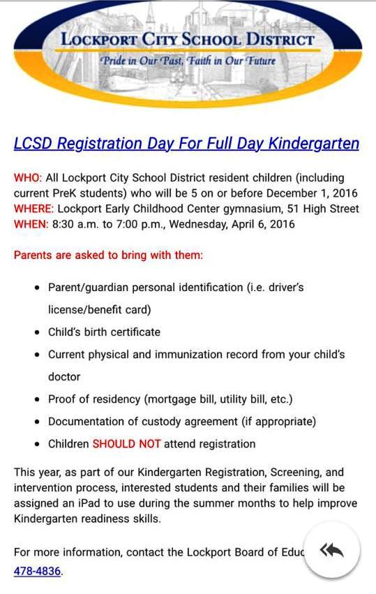 preschool registration process niagara s watercooler lcsd kindergarten registration 701