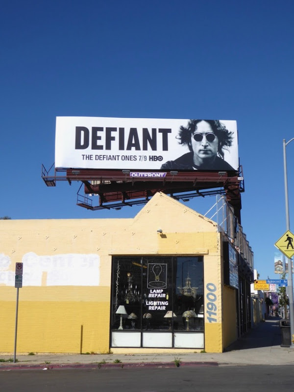 John Lennon Defiant Ones billboard