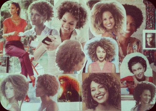 Colagem inspiração cabelos crespos naturais
