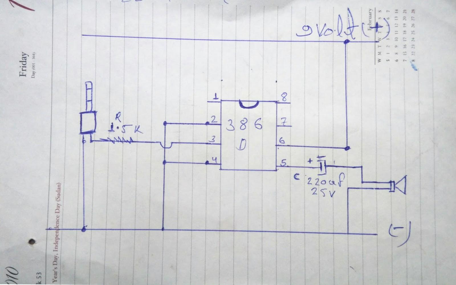 9volt Audio Amplifier Circuit Rk Electronics Project