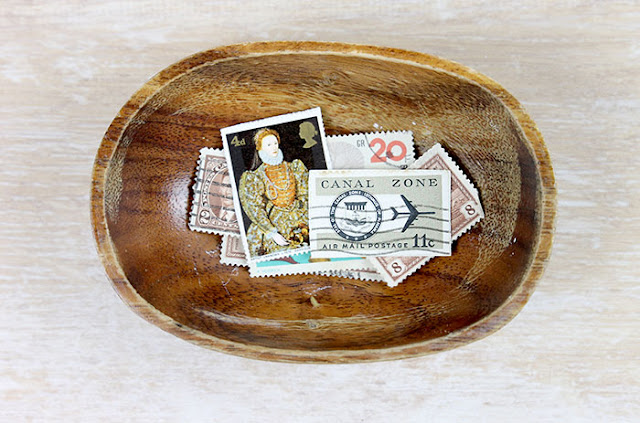bowl of stamps