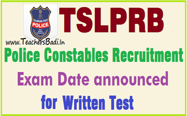 TSLPRB,Police constables,PCs,final written exam date
