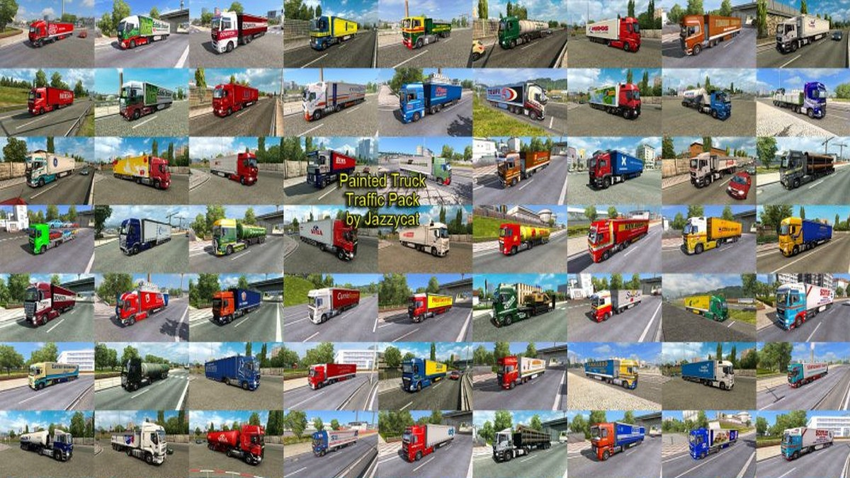 Jazzycat – Painted Truck Traffic Pack 5.4