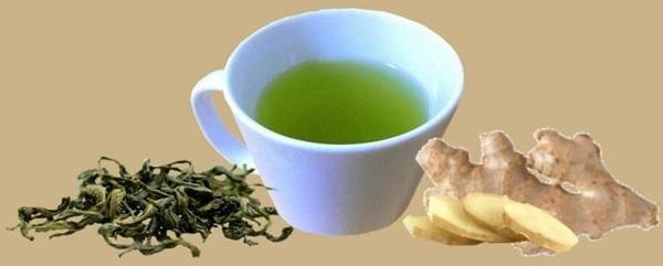 teh hijau dan jahe
