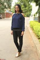 Poojita Super Cute Smile in Blue Top black Trousers at Darsakudu press meet ~ Celebrities Galleries 028.JPG
