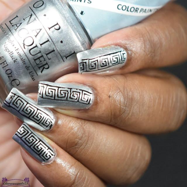Silver & Black Stamping