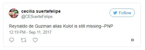 Reynaldo de guzman alias kulot is still mising