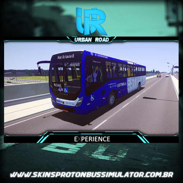 Skin Proton Bus Simulator - Torino 14 MB AC OF-1721 BT5 Estrela