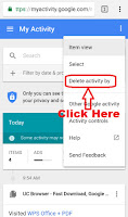 how to clear google search bar history on android
