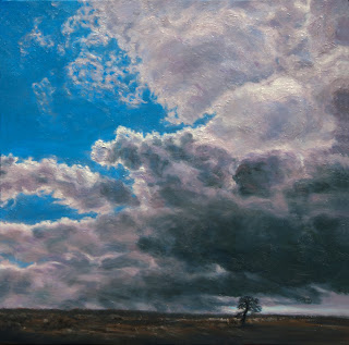 Sheltering Cloud, Restless Land, Desolate Tree  Katherine Kean oil on linen 16 x 16 inches