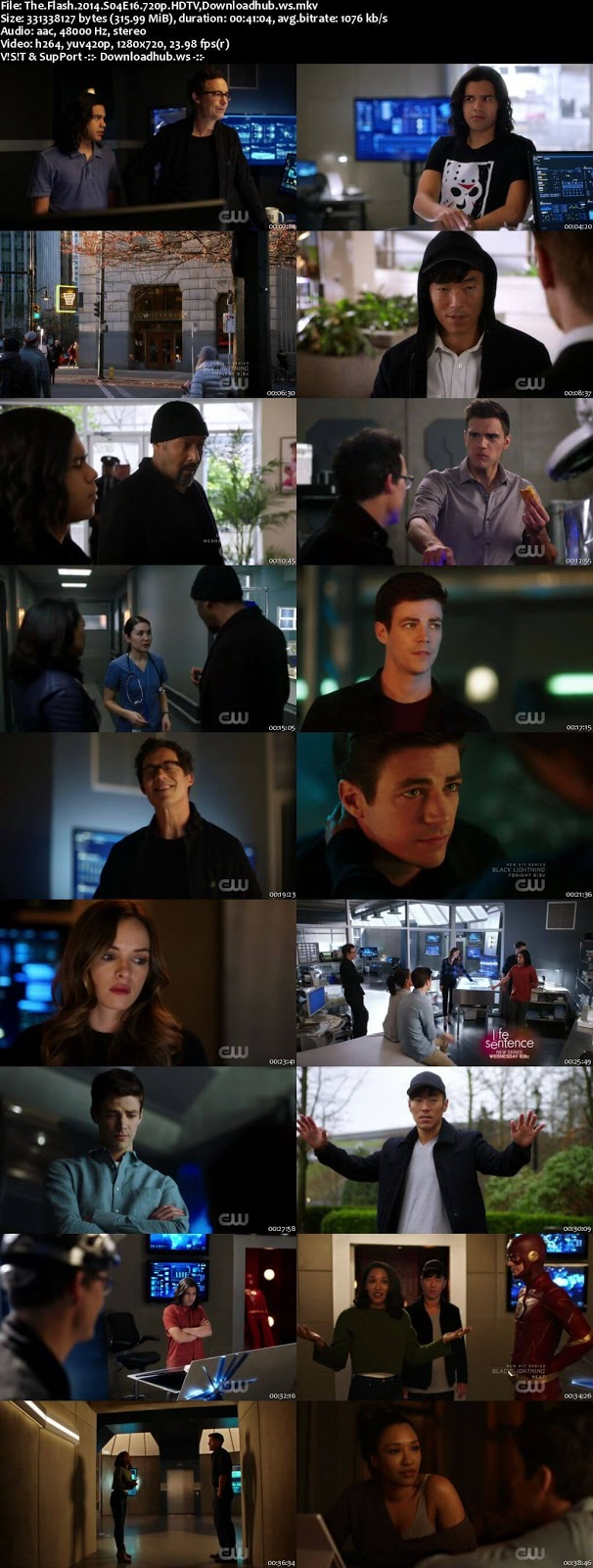 The Flash S04E16 300MB HDTV 720p x264
