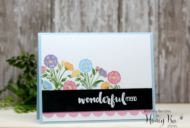 flowers | handmade card | clear stamps | honey bee stamps | kimpletekreativity.blogspot.com