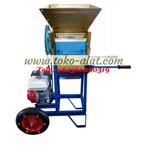 Mesin pengupas kulit kopi basah beroda (mesin pulper portable)