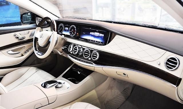 Bảng Taplo Mercedes Maybach S450 4MATIC 2019 thiết kế rất sang trọng và hiện đại