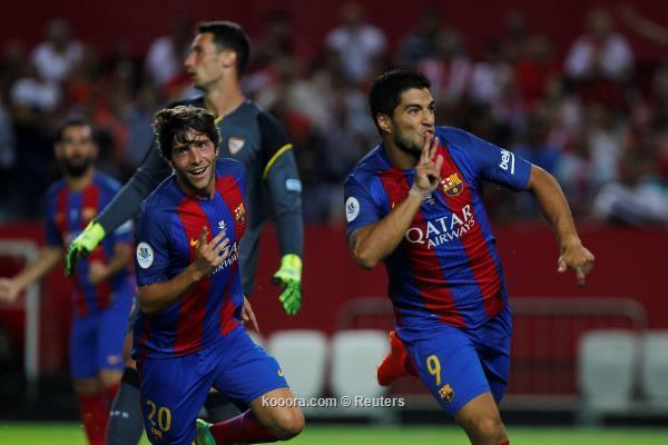 اهداف برشلونة واشبيليه