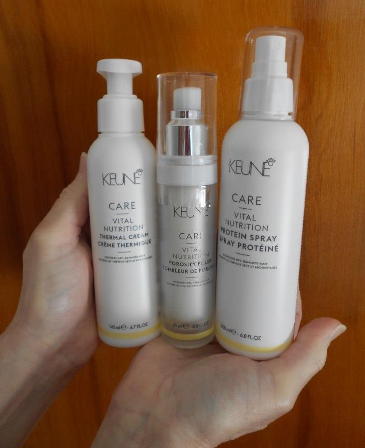 3 Keune Care Vital Nutrition Damaged Hair Solutions