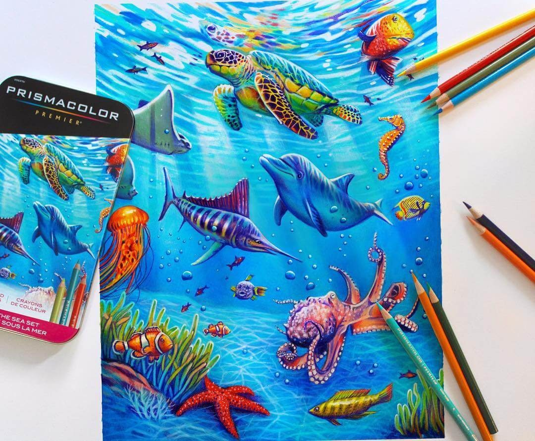 05-Under-the-Sea-Glowing-Colorful-Drawings-Morgan-Davidson-www-designstack-co