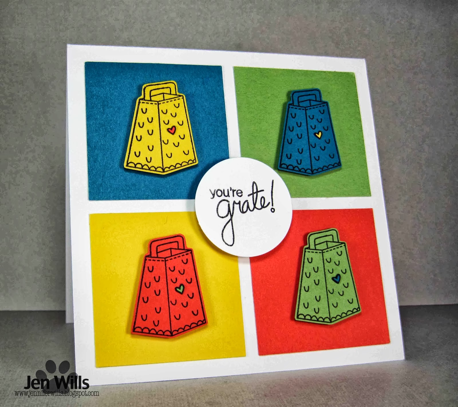 Just say Cheese card by Jen Willis using Newton's Nook Designs Stamps