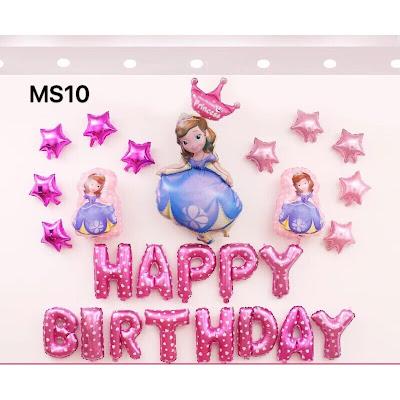 set bóng trang trí sinh nhật cho bé tại nhà
