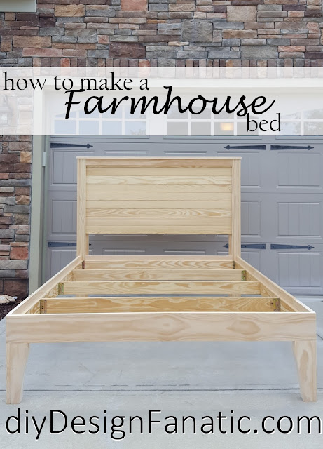 diy Farmhouse bed, farmhouse bed, diy farmhouse headboard, farmhouse style, farmhouse, Farmhouse headboard, cottage, cottage style, distressed headboard, diy, diyDesignFanatic.com