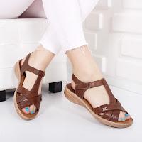 Sandale Piele Sense maro