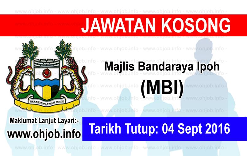 Jawatan Kerja Kosong Majlis Bandaraya Ipoh (MBI) logo www.ohjob.info september 2016