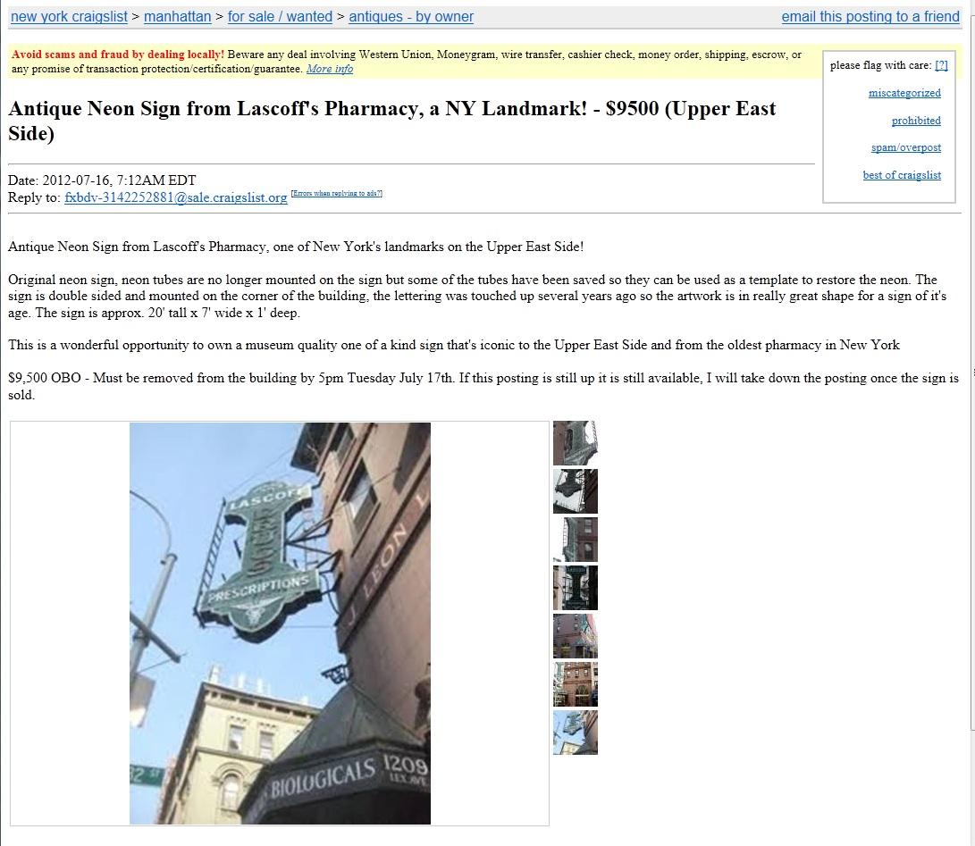 New York Neon: Losing Lascoff's