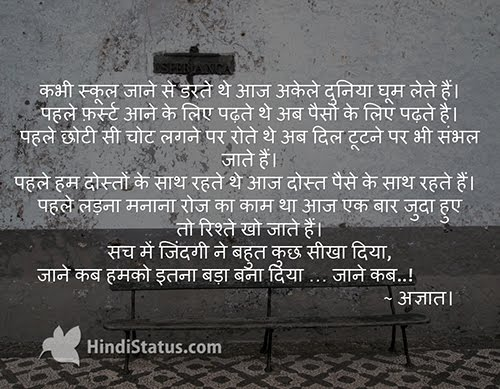 Life Teach Lot of Things - HindiStatus