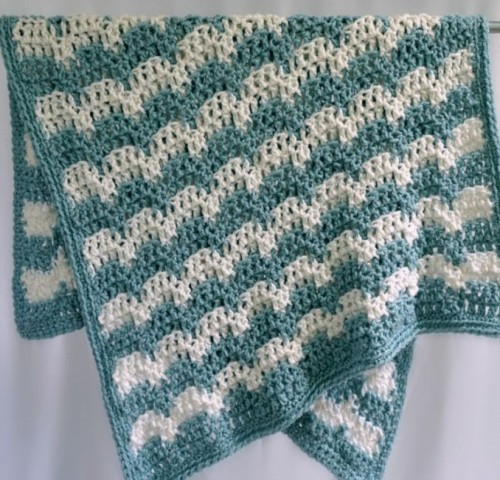 Snowdrifts Afghan - Free Pattern