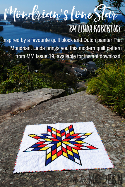 Make Modern Issue 19 Mondrian's Lone Star quilt Linda Robertus