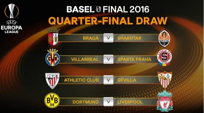 Calendario Uefa Europa League.Cuartos Europa League 2015 2016 Calendario Liga Espanola