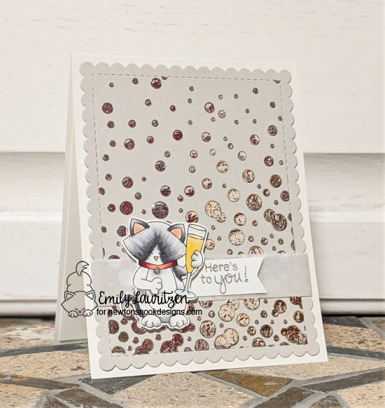 Here's to you by Emily features Bubbly, Newton Celebrates, and Frames & Flags by Newton's Nook Designs; #newtonsnook