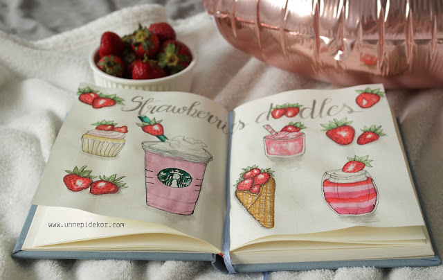 Bullet Journal Doodles: Strawberry- Oszlánszki Marcsi