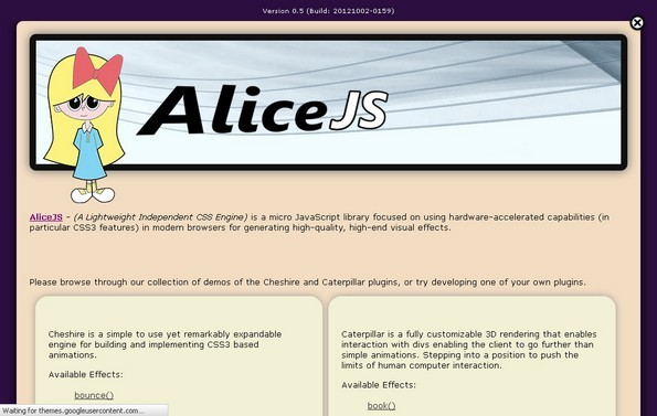 AliceJS library