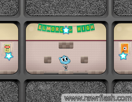 Jogos do cartoon, gumball, online, plataforma: O Incrível Mundo de Gumball - Tensão na Detenção.