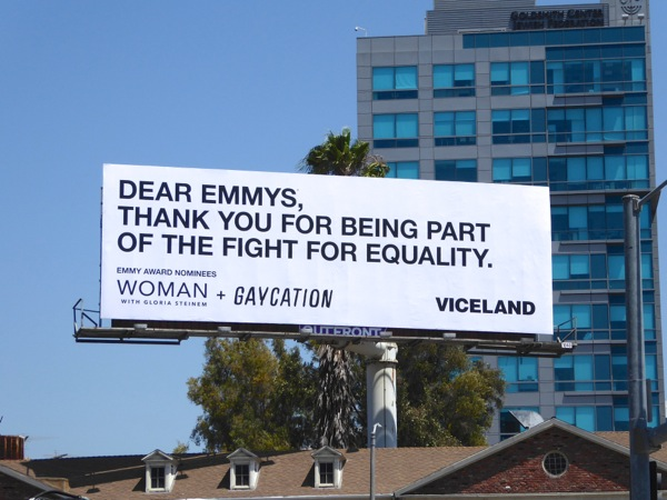 Woman Gloria Steinem Gaycation Emmy billboard