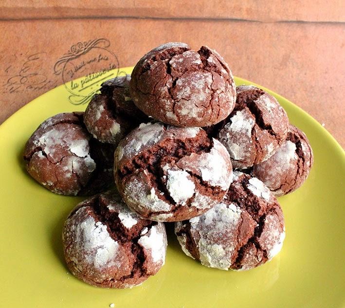 Les Crinkles Des Petits Gateaux Moelleux Au Chocolat Il Etait