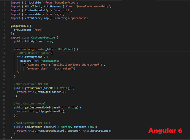 Angular 6 RESTful APIs POST/GET/PUT/ DELETE Calls Using