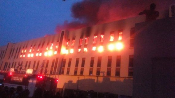Photos: Fire outbreak at Yabatech female hostel