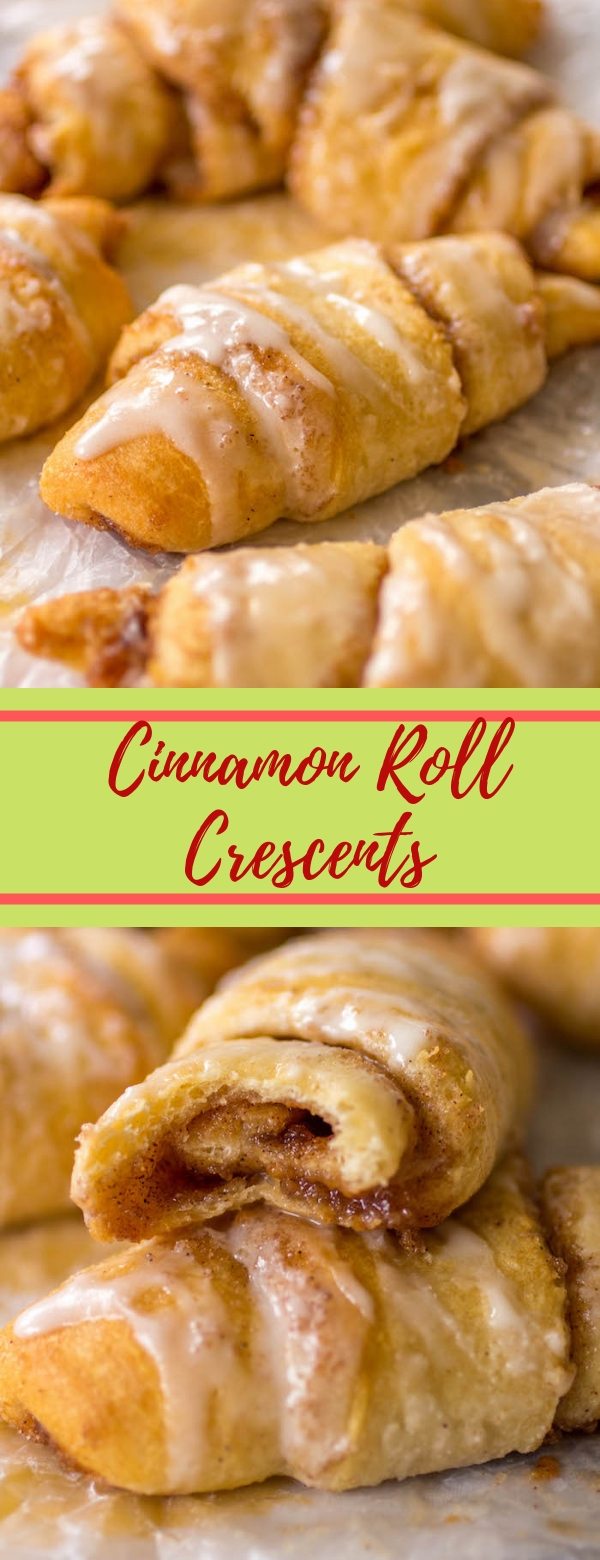 Cinnamon Roll Crescents #CINNAMON #APPETIZER