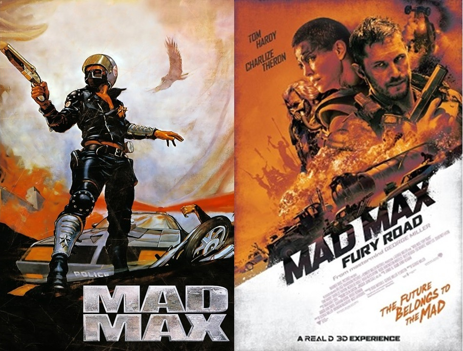 side by side mad max 1979 vs mad max fury road 2015 merc