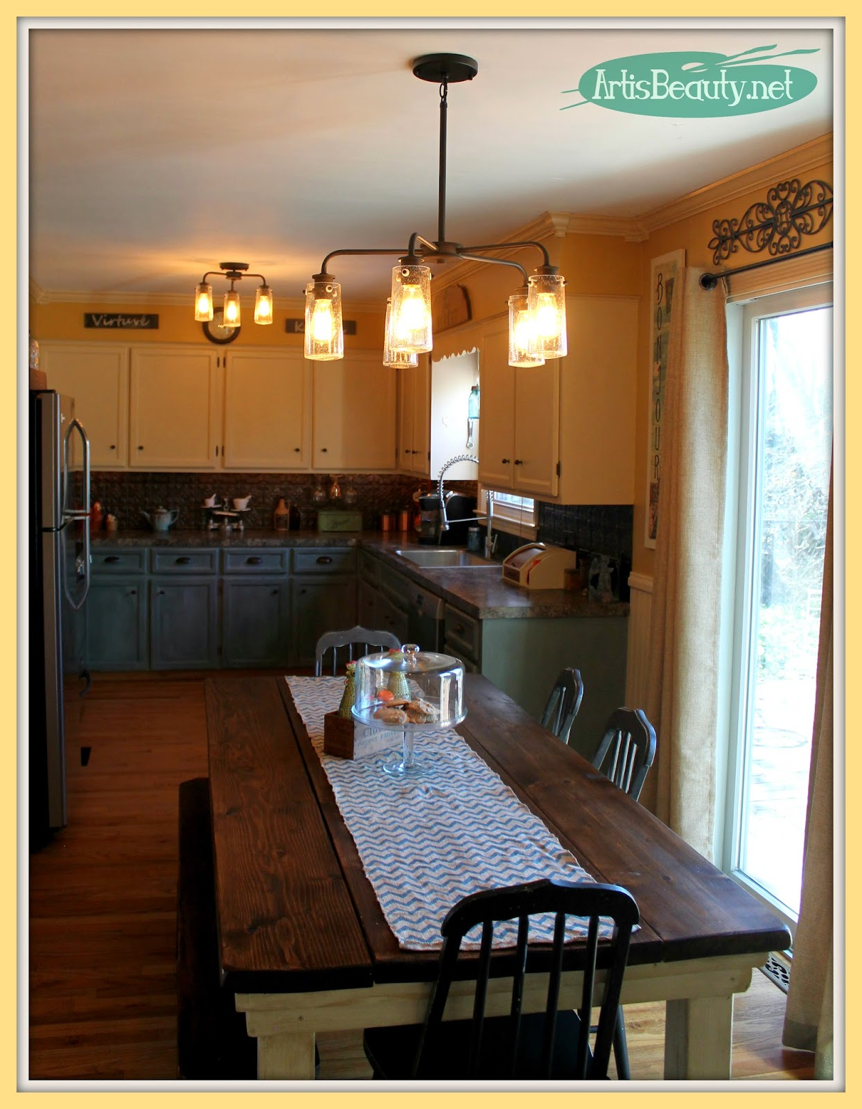 ART IS BEAUTY: Vintage Style Kitchen Lighting Update! Buh