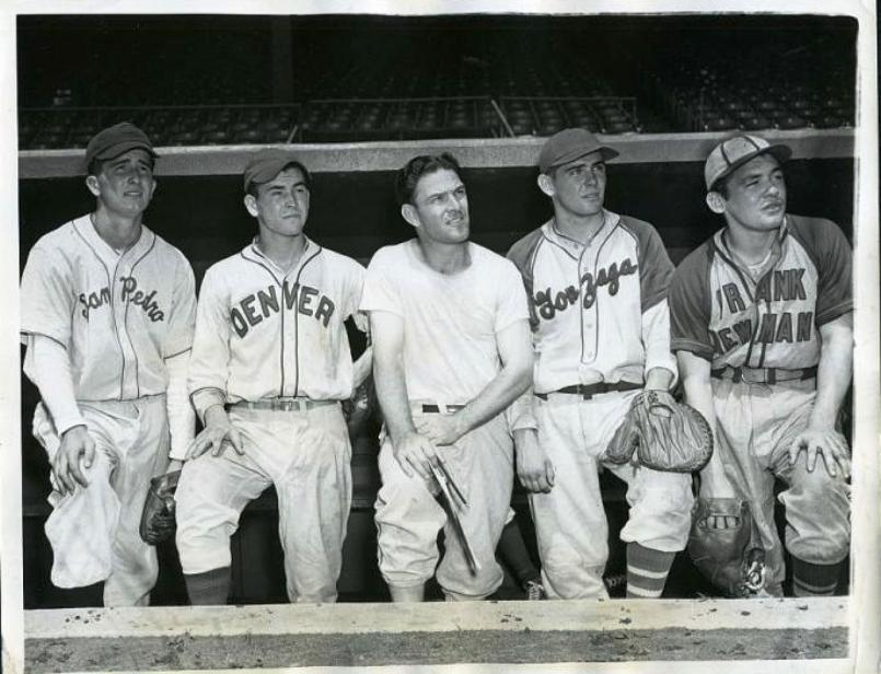 Virgil Jester Second From Left At The 1944 Esquire All American Boys Baseball Game