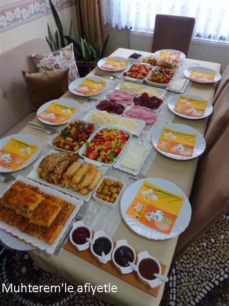 akraba günü kahvaltı menüsü