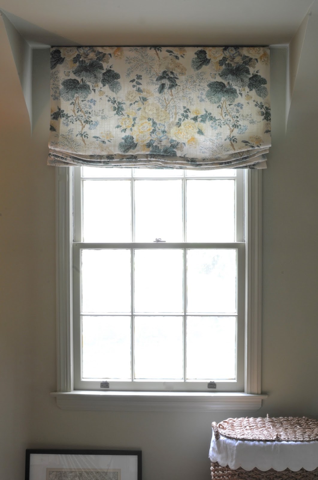 Nine sixteen simple outside mount roman shade tutorial Simple window treatments