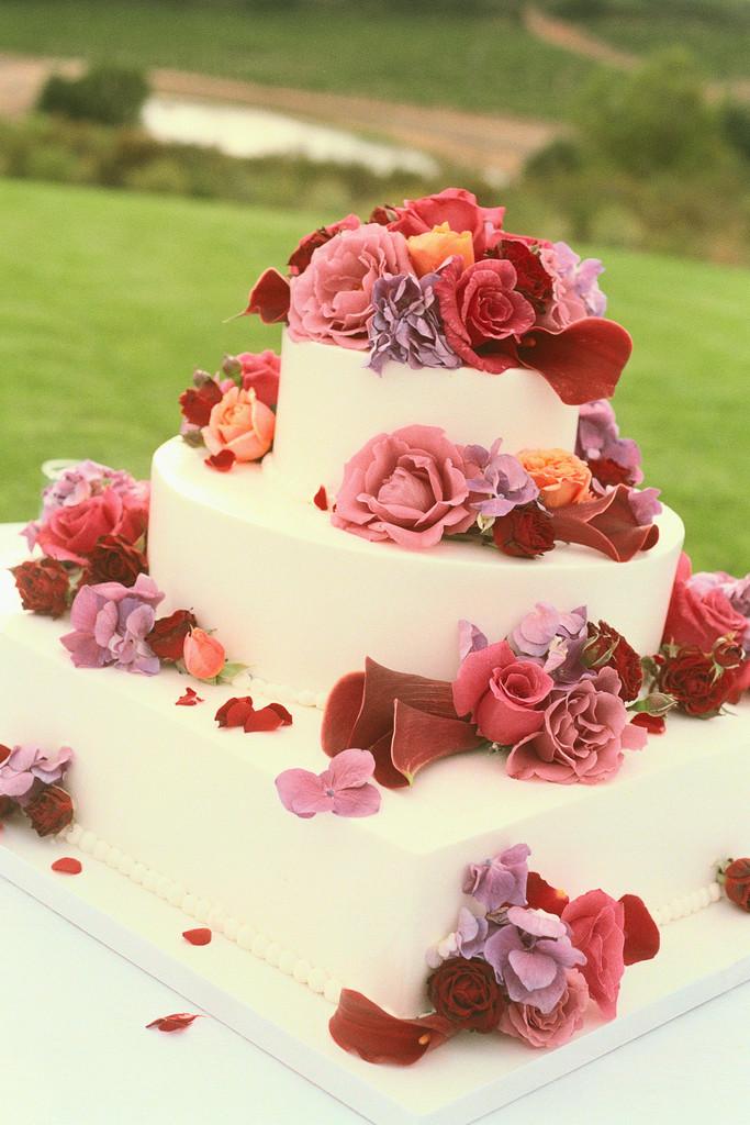 wedding cake designs - Traditional 55th Wedding Anniversary Gift